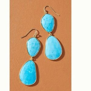 Anthropologie Luna Drop Earrings
